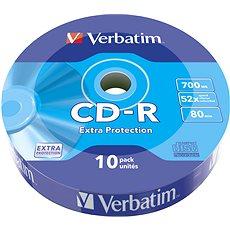 VERBATIM CD-R 80 52× WRAP EXTRA PROTECTION 10pck/BAL - Médium