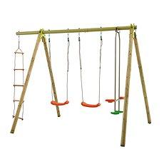 Trigano hojadačka 2 sedadla a hojdacie sane + povrazový rebrík - Hojdačka