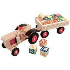 Bino Traktor s gumovými kolesami a vlečkou - Auto
