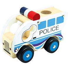 Bino Drevené auto polícia - Auto