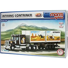 Monti 25 - Intrans Container Western star mierka 1:48 - Stavebnica