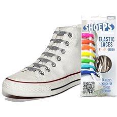 Shoeps – Silikónové šnúrky XL strieborné - Sada šnúrok