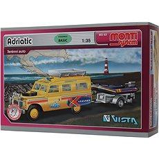 Monti system 63 – Land Rover – vlek s loďkou/člnom 1 : 35 - Stavebnica