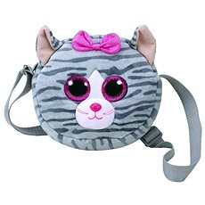 Ty Gear shoulder bag Kiki – grey cat 15 cm - Plyšová hračka