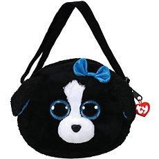 Ty Gear shoulder bag Tracey – black/white dog 15 cm - Plyšová hračka