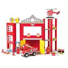 Woody Veľká hasičská stanica s autíčkami - Herný set