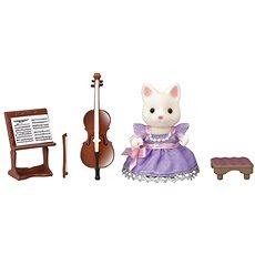 Sylvanian Families Mesto – violončelistka hodvábna mačka - Herný set