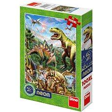 Svet dinosaurov – neon - Puzzle