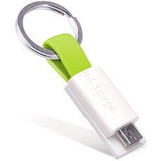 inCharge Micro USB Lime, 0.08m - Dátový kábel
