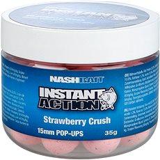 Nash Instant Action Strawberry Crush Pop Ups 15 mm 35 g - Plávajúce boilies