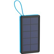 XLAYER Powerbank PLUS Solar 10000 mAh čierna/modrá - Powerbank