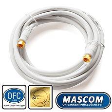 Mascom koaxiálny kábel 7676-030W, konektory F 3m - Kábel anténny