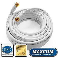 Mascom koaxiálny kábel 7676-100W, konektory F 10 m - Kábel anténny
