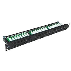 "DATACOM Patch panel 19"" UTP 48 port CAT5E DUAL 1U BK (8×6p) - Patch panel"