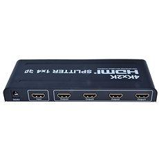 PremiumCord Externý HDMI Splitter, 4x port HDMI 1.4a čierny - Adaptér