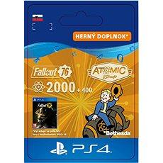 Fallout 76: 2000 (+400 Bonus) Atoms - PS4 SK Digital - Herní doplněk