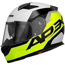 CASSIDA Apex Contrast (žltá fluorescenčná/čierna/biela/sivá) - Prilba na motorku
