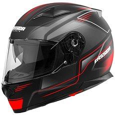CASSIDA Apex Fusion (čierna matná/červená fluorescenčná/biela) - Prilba na motorku