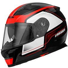 CASSIDA Apex Fusion (čierna/biela/červená fluorescenčná) - Prilba na motorku