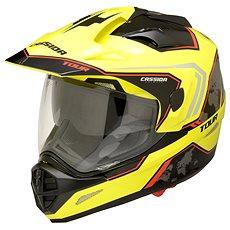 CASSIDA Tour Globe (čierna/žltá fluo/červená) - Prilba na motorku