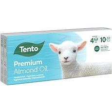 TENTO Natural Oils Almond 10× 10 ks - Papierové vreckovky