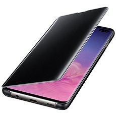 Samsung Galaxy S10+ Clear View Cover čierne - Puzdro na mobil