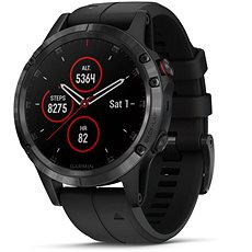 Garmin Fenix 5 Plus Sapphire Black Optic Black Band - Smart hodinky