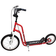 "Lifefit Rider 16""/12"" červeno/biela - Kolobežka"