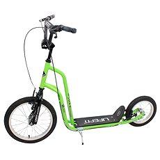 """Lifefit Rider 16""""/12"""" zeleno/čierna - Kolobežka"""