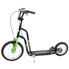 "Lifefit Rider 16""/12"" čierno/zelená - Kolobežka"