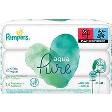 PAMPERS Aqua Pure vlhčené obrúsky 3× 48 ks - Detské vlhčené obrúsky