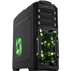 EVOLVEO Y01 čierna/zelená - Počítačová skriňa