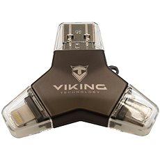 Viking USB Flash disk 3.0 4 v 1 128 GB čierny - Flash disk