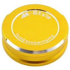 M-Style viečko nádobky brzdovej kvapaliny – zlaté - Viečko nádobky brzdovej kvapaliny