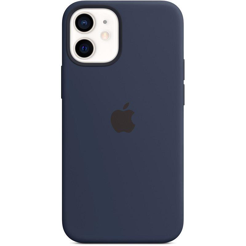 Apple iPhone 12 Mini Silikónový  kryt s MagSafe námornícky modrý - Kryt na mobil