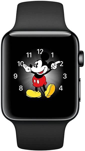 Apple Watch Series 2 38 mm Vesmírne čierna nerezová oceľ s vesmírne čiernym športovým remienkom - Smart hodinky