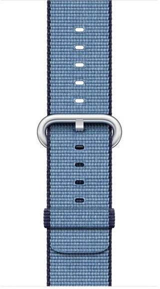 Apple 38 mm Navy modrý/azúrový z tkaného nylonu - Remienok