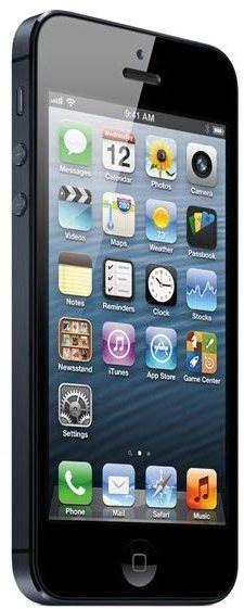 iPhone 5 64GB černý  - Mobilní telefon