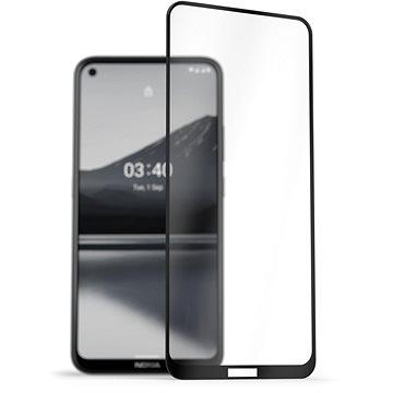 AlzaGuard 2.5D FullCover Glass Protector na Nokia 3.4 čierny - Ochranné sklo