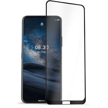 AlzaGuard 2.5D FullCover Glass Protector na Nokia 8.3 5G čierny - Ochranné sklo
