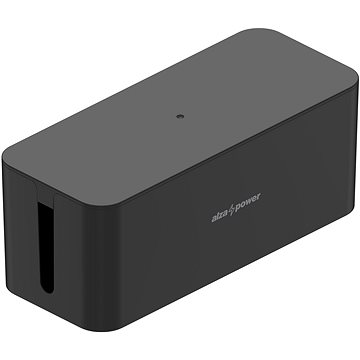 AlzaPower Cable Box Basic Medium čierny - Organizér káblov