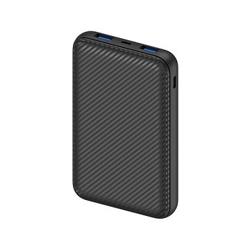 AlzaPower Carbon 10000 mAh Fast Charge + PD3.0 Black - Powerbank