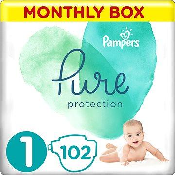 PAMPERS Pure Protection veľ. 1 (102 ks) - Detské plienky
