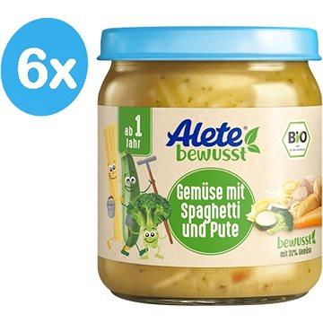 ALETE BIO Príkrm Zelenina so špagetami a morčacím mäsom 6× 250 g - Príkrm