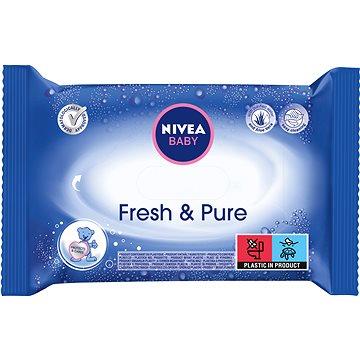 Nivea Baby Wipes Fresh & Pure 63 ks - Detské vlhčené obrúsky