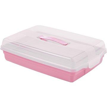 CURVER Podnos s vrchnákom obdĺžnik 45 × 11,1 × 29,5 cm PARTY BOX ružový - Podnos