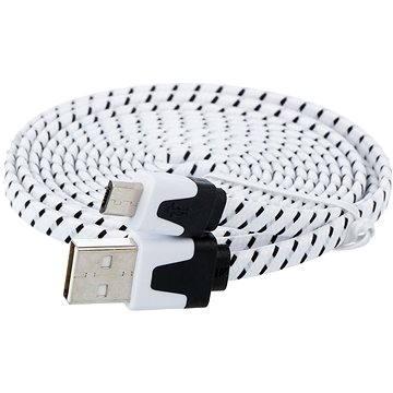 PremiumCord USB 2.0 prepojovací A-B micro 1.8m čierny - Dátový kábel