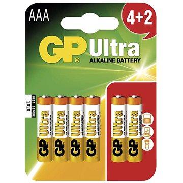 GP Ultra Alkaline LR03 (AAA) 4+2 ks v blistri - Jednorázová batéria