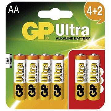 GP Ultra Alkaline LR06 (AA) 4+2 ks v blistri - Jednorázová batéria