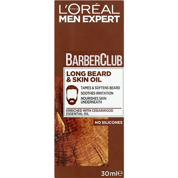 ĽORÉAL PARIS Men Expert Barber Club Long Beard & Skin Oil 30 ml - Olej na fúzy